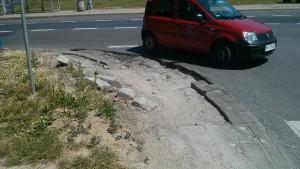 Skrzyżowanie ulicy Lazurowej i Batalionów Chłopskich