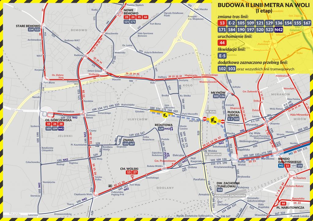 Budowa II linii metra na Woli (1 etap)
