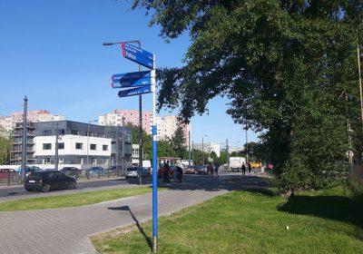 Chodnik przy ulicy Radiowej