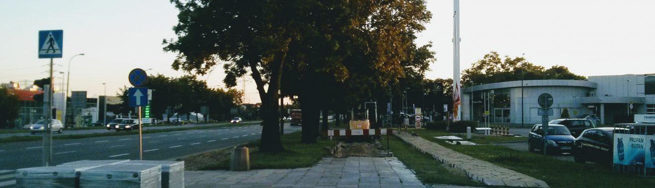 Budowa drogi dla rowerów na ulicy Połczyńskiej