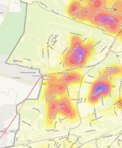 Bemowo - mapa gęstości zaludnienia