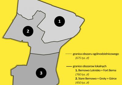 Budżet patycypacyjny - podział dzielnicy na obszary