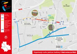 Organizacja ruchu podczas budowy II linii metra na Woli