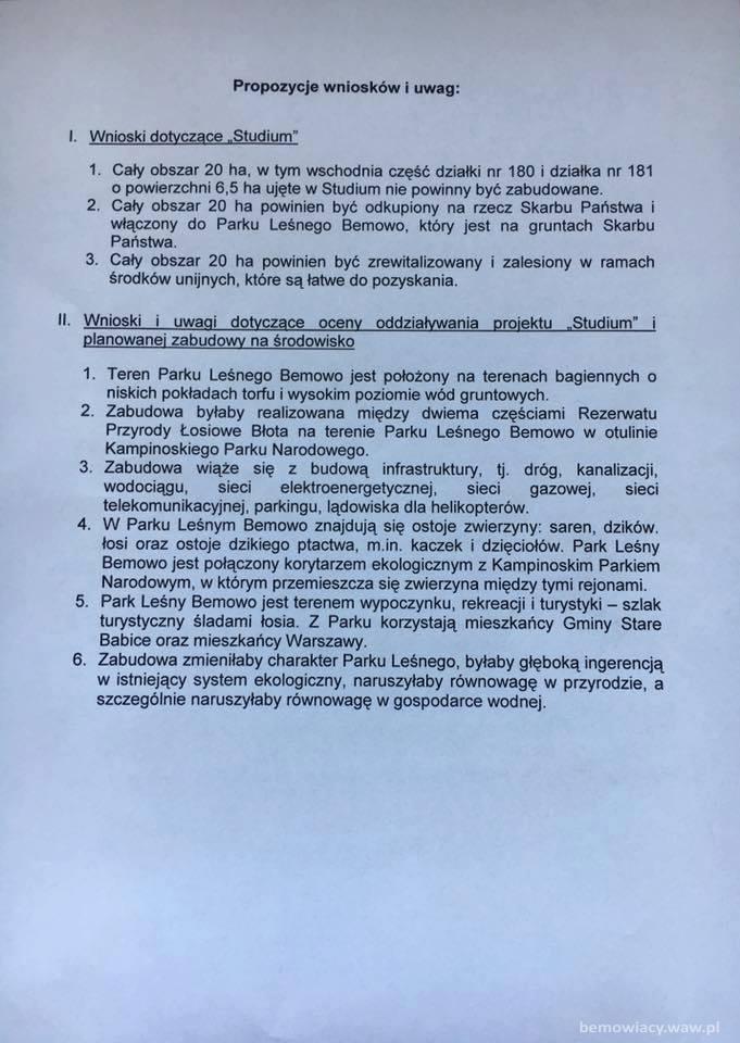 Pismo Radnych Gminy Stare Babice z 27.06.2017