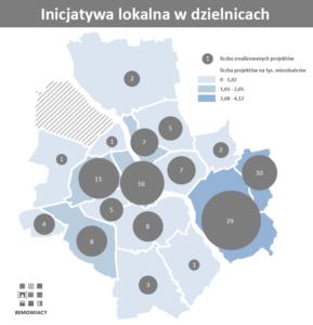 Inicjatywa lokalna - projekty zrealizowane w dzielnicach